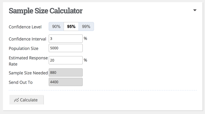 Using The Sample Size Calculator Baseline Help Center